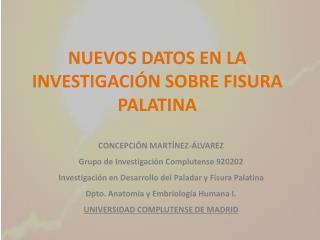 CONCEPCIÓN MARTÍNEZ-ÁLVAREZ Grupo de Investigación Complutense 920202