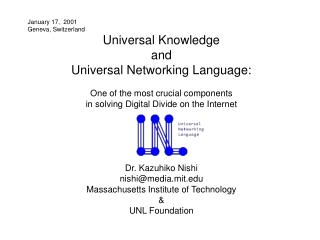 Universal Knowledge and Universal Networking Language: