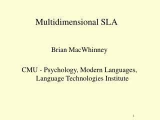 Multidimensional SLA