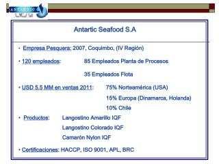 Antartic Seafood S.A