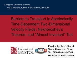 S. Wiggins, University of Bristol       Ana M. Mancho, ICMAT (CSIC-UAM-UC3M-UCM)