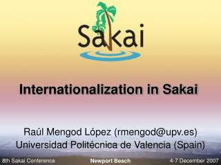 Internationalization in Sakai