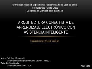 Arquitectura  conectista  de aprendizaje electrónico con asistencia inteligente