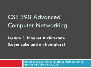 CSE 390 Advanced Computer Networking