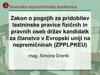 mag. Simona Drenik