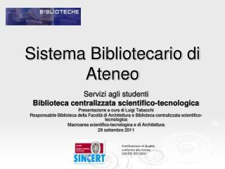 Sistema Bibliotecario di Ateneo