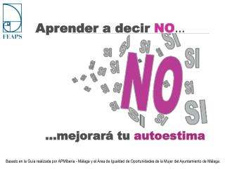 Aprender a decir  NO �