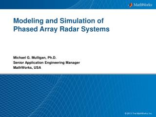 Modeling and Simulation of  Phased  Array  Radar  Systems