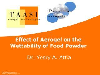 Effect of Aerogel on the Wettability of Food Powder