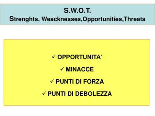 S.W.O.T. S trenghts, Weacknesses,Opportunities,Threats