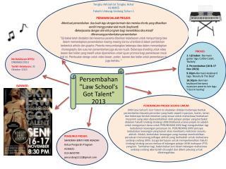 Tengku Athirah bt Tengku Azhar A146465 Fakulti Undang-Undang Tahun  1 PERANAN DALAM PROJEK: