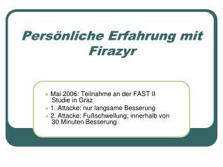 Pers�nliche Erfahrung mit Firazyr