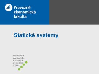 Statick� syst�my