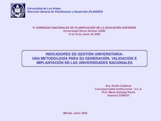 INDICADORES DE GESTIÓN UNIVERSITARIA:
