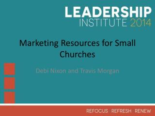 Marketing Resources for Small Churches