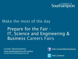 Prepare for the Fair -  IT, Science and Engineering & Business  Careers Fairs