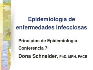 Epidemiología de enfermedades infecciosas