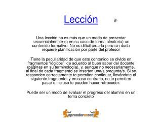 Lección