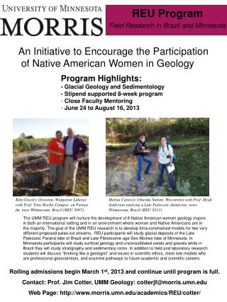 REU Program Field Research in Brazil and Minnesota