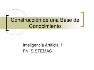 Construcción de una Base de Conocimiento