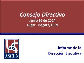 Informe de la  Direcci�n Ejecutiva