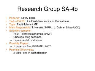 Research Group SA-4b