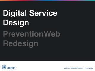 Digital Service Design PreventionWeb Redesign