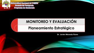 Universidad Nacional de Trujillo Escuela de Postgrado Programa de Doctorado