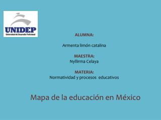 Mapa de la educación en México