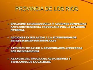PROVINCIA DE LOS RIOS