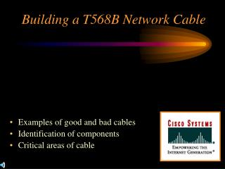 Building a T568B Network Cable