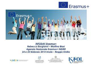 INFODAY Erasmus+ Rebecca Borgianni – Martina Blasi Agenzia Nazionale Erasmus+ INDIRE