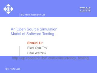 An Open Source Simulation Model of Software Testing