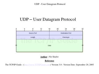 UDP - User Datagram Protocol