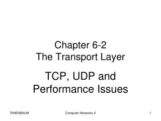 Chapter 6 -2 The Transport Layer