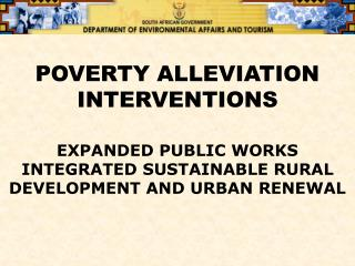POVERTY ALLEVIATION INTERVENTIONS