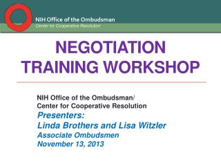 Negotiation Training workshop