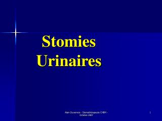 Stomies  Urinaires