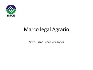 Marco legal Agrario