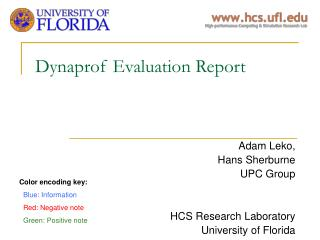 Dynaprof Evaluation Report
