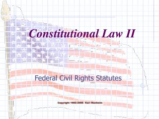 Federal Civil Rights Statutes