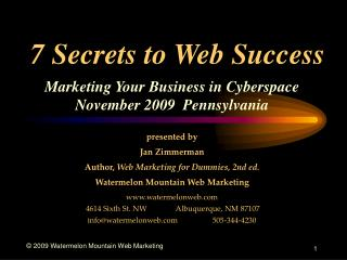 7 Secrets to Web Success