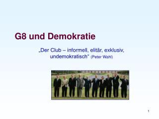 G8 und Demokratie