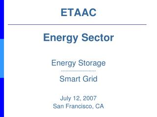 ETAAC Energy Sector
