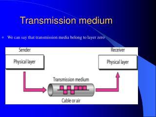 Transmission medium