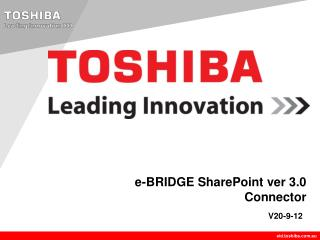 e-BRIDGE SharePoint ver 3.0 Connector