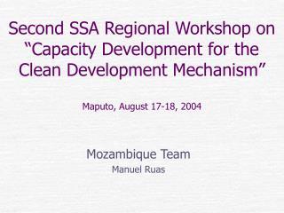 Mozambique Team Manuel Ruas