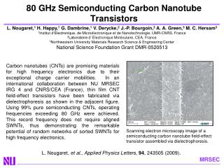 80 GHz Semiconducting Carbon Nanotube Transistors