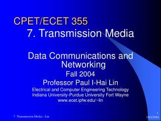 CPET/ECET 355