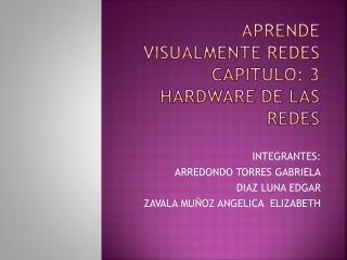APRENDE VISUALMENTE REDES CAPITULO: 3 Hardware de las Redes